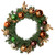 Green Foliage with Ornaments Artificial Christmas Wreath - 24-Inch, Unlit - IMAGE 1