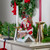 """11"""" Red Santa Going Down The Chimney Christmas Tabletop Figurine - IMAGE 2"""