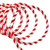 18' Red and White Striped Candy Cane Christmas Rope Light - IMAGE 2