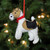 """5"""" White and Brown Dog with Jingle Bell Hanging Christmas Ornament - IMAGE 2"""