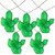 10-Count Green Prickly Pear Cactus LED String Lights - 4.5ft Clear Wire - IMAGE 1