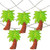 10 Warm Clear LED Battery Operated Palm Tree Summer String Lights - 4.5 ft Clear Wire - IMAGE 1