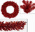 """24"""" Pre-Lit Sparkling Red Hot Artificial Tinsel Christmas Wreath - Red Lights - IMAGE 1"""