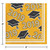 """Club Pack of 360 Yellow and Black Class of 2019 Square Beverage Napkins 5"""" - IMAGE 2"""