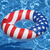 """36"""" Patriotic Stars and Stripes Ring Inflatable Swimming Pool Inner Tube - IMAGE 2"""