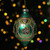 """5.5"""" Green and Gold Floral Beaded Glass Christmas Finial Ornament - IMAGE 2"""