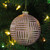"""Pink and Gold Striped Matte Glass Christmas Ball Ornament 4"""" (100mm) - IMAGE 2"""