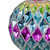 """2-Finish Vibrantly Colored Harlequin Glass Christmas Ball Ornament 3.75"""" (95mm) - IMAGE 4"""