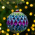 """2-Finish Vibrantly Colored Harlequin Glass Christmas Ball Ornament 3.75"""" (95mm) - IMAGE 2"""