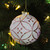 """Matte White and Pink Floral Glass Hanging Christmas Ball Ornament 3.75"""" (95mm) - IMAGE 2"""