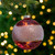 """4"""" Pink and Gold Glitter Frosted Glass Ball Christmas Ornament - IMAGE 2"""