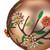 "4"" Beaded Floral Glass Ball Christmas Ornament - IMAGE 4"