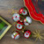 "6ct Silver and Red 2-Finish Retro Reflector Christmas Ball Ornaments 2.75"" (55mm) - IMAGE 3"