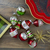 """9ct Silver and Red 2-Finish Glass Christmas Finial Ornaments 3.25"""" - IMAGE 3"""