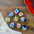 "9ct Vibrantly Colored Retro Reflector Shiny Glass Christmas Ball Ornaments 2.25"" (55mm) - IMAGE 2"
