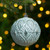 """Matte White and Silver Distressed Christmas Ball Ornament 3.5"""" (90mm) - IMAGE 2"""