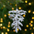 """4.5"""" White and Silver Glitter Frosted Pine Cone Hanging Christmas Ornament - IMAGE 2"""