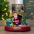 "8.5"" Brown and Green LED Animated Musical Santa Scene Christmas Tabletop Decoration - IMAGE 2"