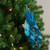 """14"""" Green and Blue Jeweled Peacock Clip-On Christmas Ornament - IMAGE 2"""
