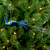 """14"""" Green and Blue Jeweled Peacock Christmas Ornament with Feather Tail - IMAGE 2"""