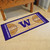 "30"" x 72"" Brown and Purple NCAA Washington Huskies Rectangular Area Throw Rug Runner - IMAGE 3"