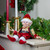 """13"""" Burgundy and Gold Festive Chubby Christmas Elf With Bells - IMAGE 2"""
