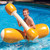 """54"""" Brown and White Inflatable Swimming Pool Log Flume Joust Set - IMAGE 3"""