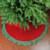 "46.5"" Red and Green Glittered Chevron Border Christmas Tree Skirt - IMAGE 3"
