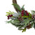 Icy Winter Foliage and Plaid Bow Artificial Christmas Twig Wreath - 23 inch, Unlit - IMAGE 3
