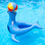 """63.5"""" Blue Sea Lion with Ball Ride-On Swimming Pool Inflatable Raft - IMAGE 2"""
