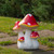 """16.75"""" White and Red Hand Painted Mushrooms Outdoor Garden Decor - IMAGE 2"""