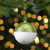 """3.5"""" Shiny Lime Green and Matte White Glass Christmas Ornament - IMAGE 2"""