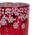 """5"""" Red and Shiny Silver Deer in Winter Woods Flameless Candle Holder - IMAGE 4"""