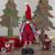 """17"""" Red and Black Buffalo Plaid Girl Gnome Christmas Figure - IMAGE 2"""