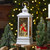 """11"""" White and Brushed Silver Christmas Cardinals Snow Globe Lantern - IMAGE 2"""