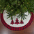 "48"" White, Red and Black Buffalo Plaid Tree Christmas Tree Skirt - IMAGE 4"