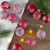 Set of 12 Red Glass Christmas Ornaments 1.75-Inch (45mm) - IMAGE 2