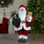"18"" Standing Santa Christmas Figure with a Plush Bear - IMAGE 2"