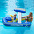 """67"""" Blue and Yellow Harbor Master Patrol Boat with Pump Squirter Swimming Pool Float - IMAGE 3"""