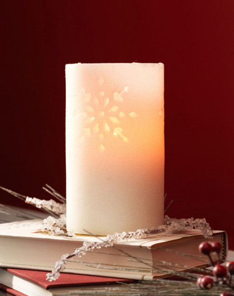 6 Quot White Glitter Snowflake Cut Out Battery Operated