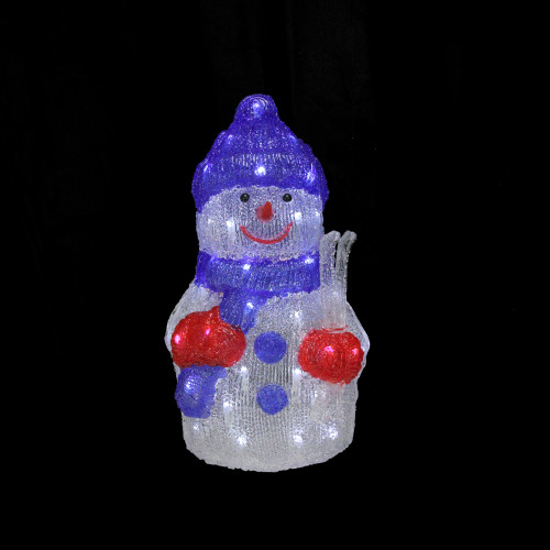 """Commercial Grade Christmas Decorations: 15"""" Lighted Commercial Grade Acrylic Snowman Christmas"""