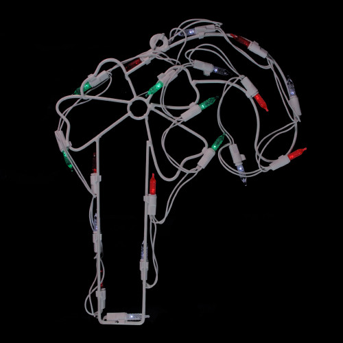12 Quot Led Lighted Candy Cane Christmas Window Silhouette