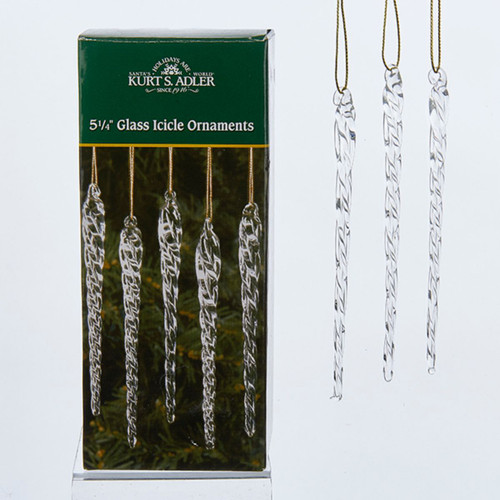 Club Pack Of 72 Ice Palace Clear Twisted Glass Icicle Christmas Ornaments 5 25 Christmas Central