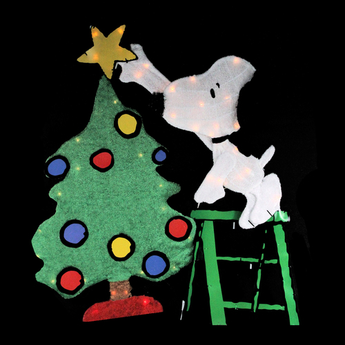 "32"" Pre-Lit Peanuts Snoopy Decorating Christmas Tree ..."