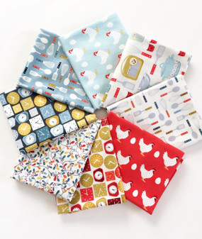 Lila's Kitchen Fat Quarter bundle - 8 FQs