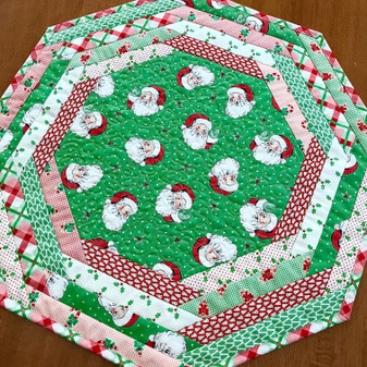 Swell Christmas Centerpiece Tablemat  Kit - Green Backing