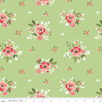 Summer Blush Main Floral - Green