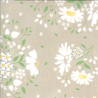 Spring Brook Main Floral in Tan/Stone