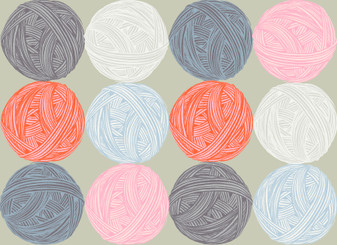 Purl by Ruby Star Society - Wound Up - Knitting Yard on Neutral Grey Background