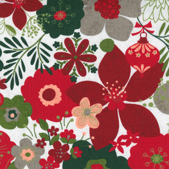 Hustle And Bustle - Carols Modern Floral in Blizzard by BasicGrey